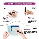 GAINWELL White Ink Chalk Pens 6mm Versatile Bullet or Chisel Nib - 4 Pack