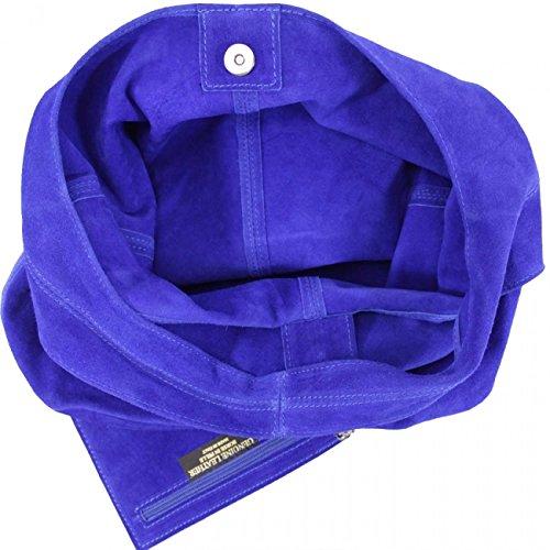 LeahWard Damen Echtes Leder Wildleder Umhängetaschen mit freiem Beutel Tasche große Größe Tasche für Frauen weiches leichtes Gewicht (Orange) Dunkelgrün