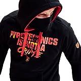 PG Wear Hoodie in verschiedenen Motiven und Farben S-XXXL (M, Pyromaniac schwarz)