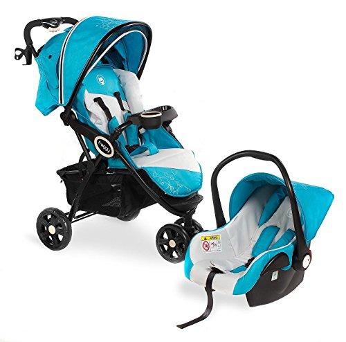 Froggy® 2in1 Kombi-Kinderwagen mit Autositz DINGO Trpical SET Buggy Sportwagen Babywagen Liegebuggy