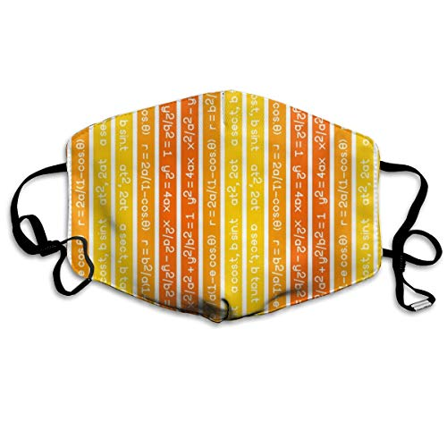 Equation Stripes Yellow Orange Vermilion Mask Mouth Mask Neck Gaiter Mask  Bandana Balaclava Easter St  Patrick's Day