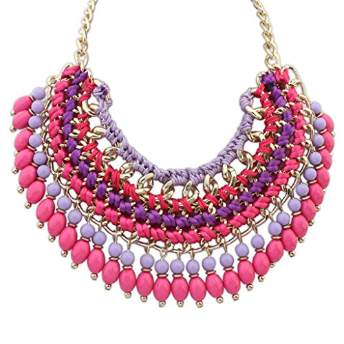 Epinki Damen Vergoldet Halskette, Damenkette Statementkette Choker Multi Strand Kette (Mädchen Kostüm Tumblr Vampir)