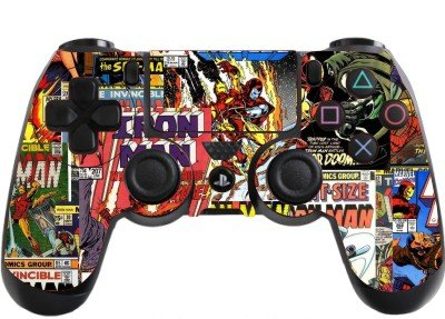 Price comparison product image Comic Superhero Playstation 4 (PS4) Controller Sticker / Skin / Wrap / PS8