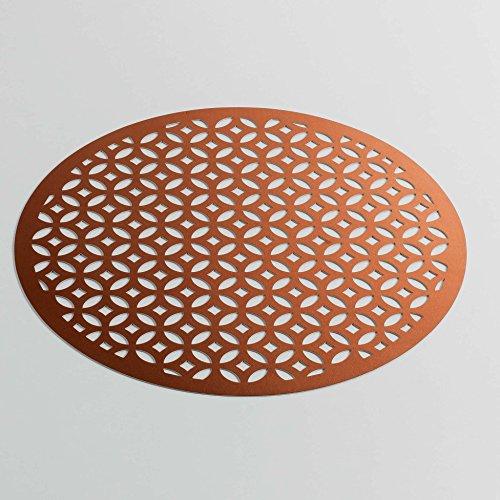 décor line Set de Table PVC, Cuivre, 38x38 cm