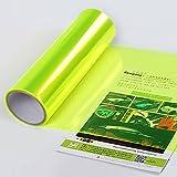 Sedeta® jaune fluorescent Autocollants de film de changement de couleur de lumière de queue de voiture de 15''x24 '' Wrap Tint Feuille décoration bricolage