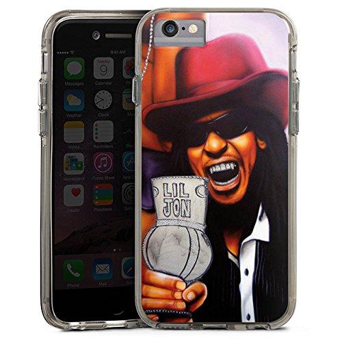 Apple iPhone 8 Bumper Hülle Bumper Case Glitzer Hülle Lil Jon Crunk Hiphop Bumper Case transparent grau