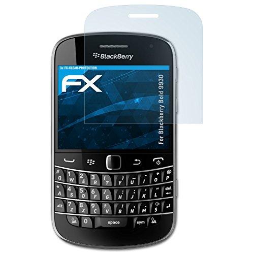 atFolix Schutzfolie kompatibel mit BlackBerry Bold 9930 Folie, ultraklare FX Displayschutzfolie (3X) Blackberry Bold Screen Protector