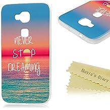 Huawei G8 Funda Silicona de Gel TPU Case Suave - Mavis's Diary Funda para móvil Huawei G8 Carcasa Resistente a los Arañazos Diseño de mar