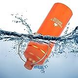 The Friendly Swede Wasserdichte Kapsel mit Parcord-Schlüsselanhänger und Karabiner - Schwimmbox, Pillendose (Orange) - 3