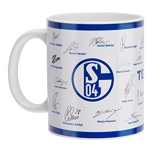 FC Schalke 04 Unterschriften Tasse 17/18 (weiß/blau)