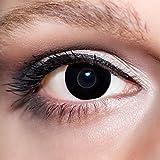 KwikSibs farbige Kontaktlinsen, schwarz, Hexe, weich, inklusive Behälter, K503, BC 8.6 mm / DIA 14.0 / -2,25 Dioptrien, 1er Pack (1 x 2 Stück)