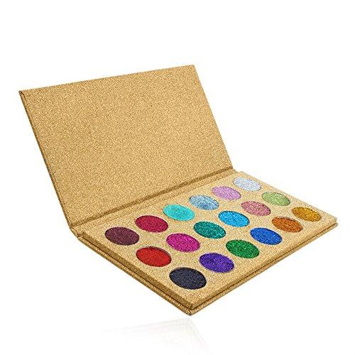 LEXUPE 18 Couleurs de Fard à paupières Maquillage cosmétique miroitant Palette de Fard à paupières Mat(Noir,34)
