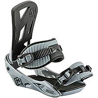 Nitro Staxx Attacchi Snowboard, Vapor Grey, L - All Mountain Snowboard Attacchi