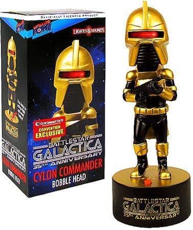 Battlestar Battlestar Battlestar Galactica - Bobble Head Électronique Cylon ComFemmeder SDCC 2013 Exclusive 18 cm | Qualité Fine  a30975