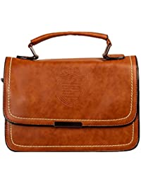 Levise London PU Leather Hand Bags For Women/Sling Bag- Brown