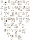 Dekorative weiße Holz Buchstaben A - Z + & mit LED Beleuchtung 1 Stück per Auswahl, Modell:Buchstabe N