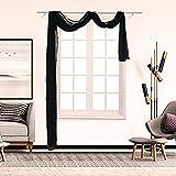Maritown Elegante Sciarpa Trasparente, Finestra con Decorazione Finestra Decorativa Voile in Tulle Lungo Tende 1 Pannello, 90x500cm