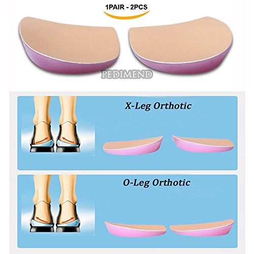 PEDIMEND™ O/X Type Leg Heel Inserts (1PAIR) | Orthopedic Insole Perfect Half Sphere Design for Bowlegs and Knock Knees | Unisex | Foot Care