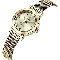 WWOOR Neu Damen-Uhren Quarzuhr Damenuhren Retro Maschendrahtband WR0011jinjin