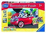 Ravensburger - 07565 - Puzzle Enfant Classique -Mickey, Minnie et leurs Amis - 2 x 12 Pièces