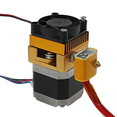 MK8 Extruder 3D Drucker MK8 Extruder Hotend 0,4 mm Düse Neuer Upgrade Druckkopf 1,75 mm Filament für 3D-Drucker RepRap Mendel MakerBot, Prusa i3 & Rework