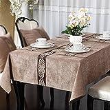 Moderne luxuriöse Tischdecke der chinesischen Art, hochwertige SpeisetischCouchtischfernsehkabinetttischdecke ( Color : B , Size : 140x140cm )