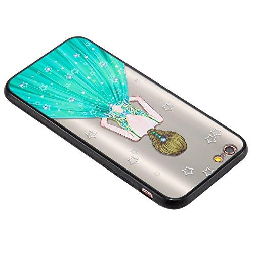 Custodia iPhone 6 Plus, iPhone 6S Plus Cover Silicone, SainCat Custodia in Silicone Morbida e Hard PC Protettiva Cover per iPhone 6/6S Plus, Custodia Antiurto Ultra Slim Silicone Case Ultra Sottile So Lvqun