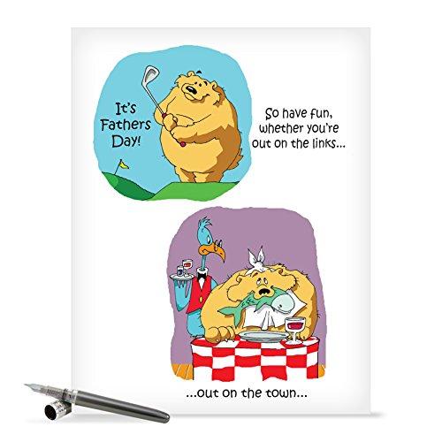 Grußkarte für Vater auf Väter Tag–Funny New Nobleworks -