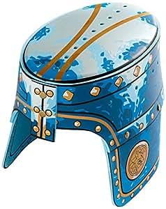 Liontouch - LT00114 - Heaume de Chevalier Lion Doré - Taille Unique - Bleu