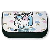 'Astuccio di trucco o di scuola Unicorno 'All I need' S Ha Unicorn Chibi e kawaii Shop