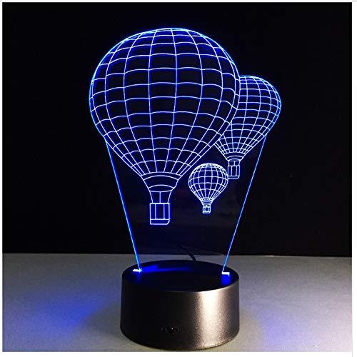 Farbe Der Heißluft-Ballon-3D Der Lampen-7 Visuelle Geführte Nachtlichter Für Kinder Berühren Usb-Tabelle Babyschlafennachtlicht