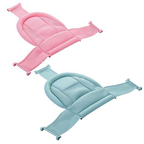 MSAI Verstellbar Baden Badewanne Sitz Bequem Baby Badewanne Net Infant Dusche Sicherheit Sicherheit Unterstützung 0–12Monate 2Farben Rose