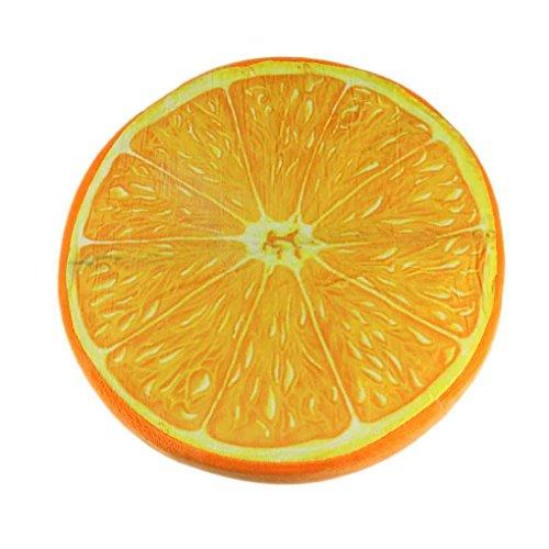 meisijia 3D kreative Frucht geformt Kissen Sitzkissen Sofa Kissen Plüschtier Geschenke Orange (Wurfkissen Orange)