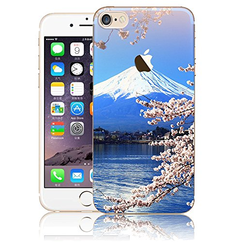 iPhone 7 TPU Silicone Coque,iPhone 8 Souple Case Cover Housse,Vandot Paysage Creative Painting Peinture Housse de téléphone pour iPhone 7 / iPhone 8 4.7 Pouces Silicone modèle Cas pour iPhone 7 TPU Do ABC-17