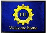 1art1 109580 Logos - Vault 111, Willkommen Zu Hause Fußmatte Türmatte 70 x 50 cm
