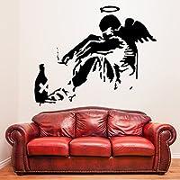 (100x 83cm) Banksy Vinile Da Parete Decalcomania gigante Angelo Caduto