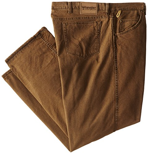 Wrangler Men's Big-Tall Rugged Wear Woodland Thermal Black Jean, Night Brown, 50x30 (Woodland Thermal)