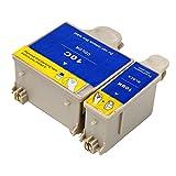 Ouguan® 2x (1 Noir + 1 Tri-colore) Kodak 10 10B 10C XL Cartouche d'encre Compatible pour Kodak ESP3 5 7 9 3250 5210 5250 7250 9250 Office 6150 EASYSHARE 5100 5300 5500 Hero 6.1 7.1 9.1
