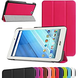 "Acer Iconia One 8 B1-850 Ultra Slim Coque,Mama Mouth Ultra Slim PU Cuir debout Fonction Housse Coque Étui Couverture pour 8"" Acer Iconia One 8 B1-850 Android Tablette,Rouge"