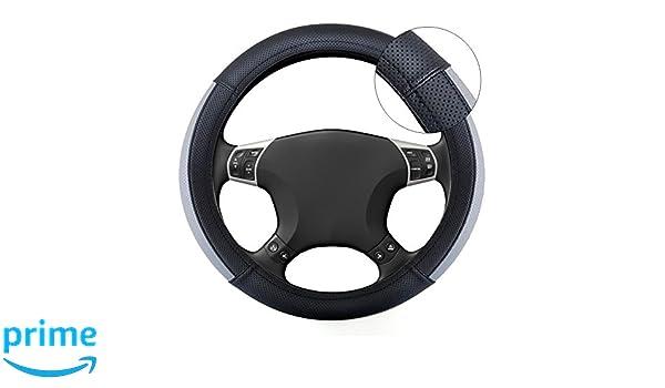 Grande Punto Black /& Grey Steering Wheel Cover Glove 37cm