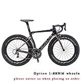 Carbon Rennrad,SAVADECK Phantom3.0 700C Rennrad Kohlefaser Rennräder Fahrrad SHIMANO Ultegra 8000 22 Speed Group Set mit MICHELIN 700C*25C Reifen und Fizik Sattel