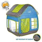 LUDI - Tente cottage pop-up pour jouer dans le jardin 130 x 120 x 144 cm. Dès 2 ans....