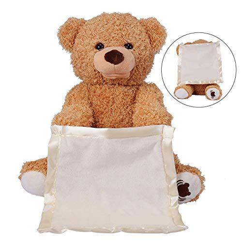 30cm Peek a Boo Bear lay Hide and Seek Cartoon Plush Toy Cute Music Bear Doll Best Christmas Gift