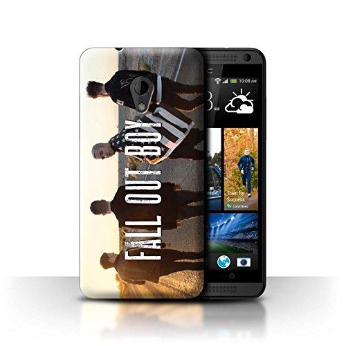 Offiziell Fall Out Boy Hülle / Case für HTC Desire 700 / Straße/Autobahn Muster / FOB Band Logo - Htc Handy-fall, Desire 700