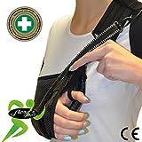 Écharpe d'immobilisation d'épaule de bras (M,Noir) ✔ Poche de bras est grande profonde 'Confort De luxe' ✔ Conception unique pour prévention de la douleur au cou. Unisexe.