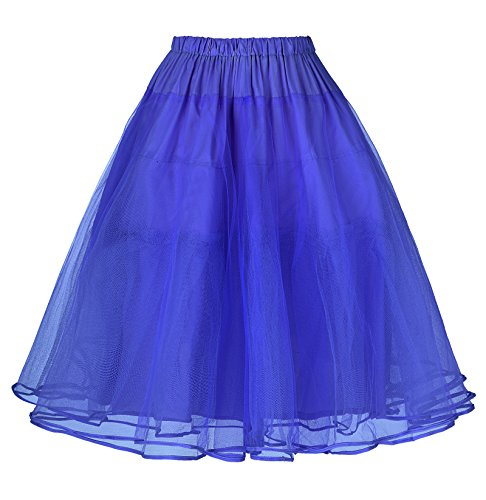Belle Poque Damen Unterrock für 50s Vintage Rockabilly Kleid 1950 Petticoat Reifrock Underskirt S BP229-11