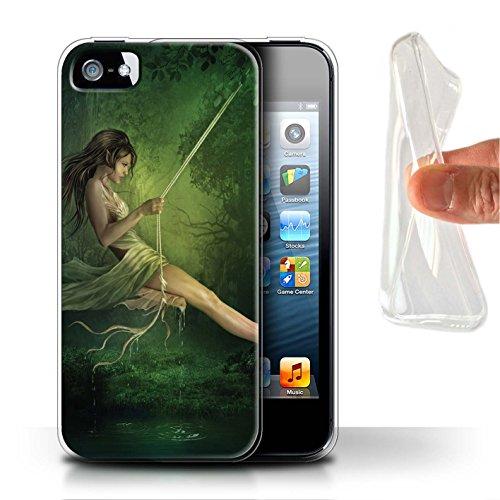 Officiel Elena Dudina Coque / Etui Gel TPU pour Apple iPhone SE / Couleurs d'Automne Design / Un avec la Nature Collection Balançoire Étang
