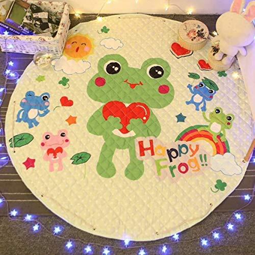 JohnJohnsen Tragbare Spielzeug der Kinder Aufbewahrungstasche und Spiel-Auflage-Spielzeug-Aufbewahrungsbehälter-Spielraum-Speicher-Bages Picknick Isomatte (Mehrfarben gemischt)