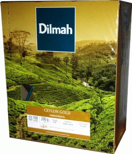 Dilmah Ceylon Gold 100 Teebeutel Schwarzer Ceylon Tee einzeln verpackt