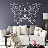 WSLIUXU Divertente adesivo geometrico a forma di farfalla Adesivo decorativo Decorazioni per la casa per la camera dei bambini Carta da parati per feste in famiglia Rosa L 43 cm x 62 cm
